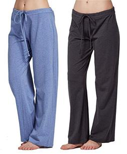 CYZ Women's Casual Stretch Cotton Pajama Pants Simple Lounge