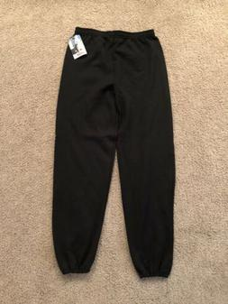 Deadstock Vintage 1990's Jerzees Black Sweatpants USA Made