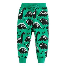 Jumping Meters Dinosaurs Sweatpants for Boys Girls Cotton Pa