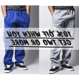 DR CASUAL MEN CARGO SWEATPANTS HEAVYWEIGHT JOGGER HIP HOP HA