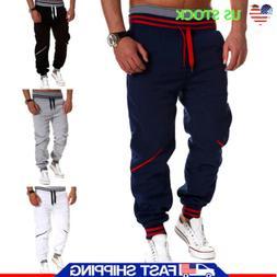 Drawstring Casual Pants Mens Jogger Dance Sportwear Sweatpan