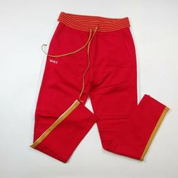 Akoo drawstring Sweatpants Jogger SIZE LARGE red 100% authen