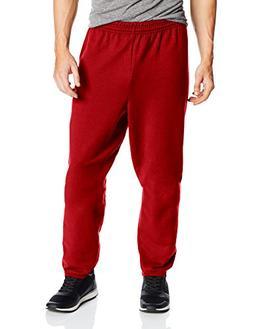 Hanes Men's EcoSmart Fleece Sweatpant, Deep Red, Large