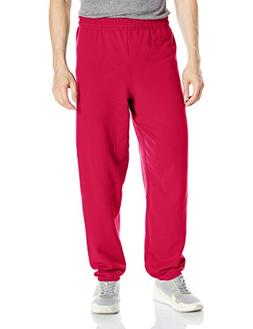 Hanes Men's Ecosmart Fleece Sweatpant, Deep Red, M