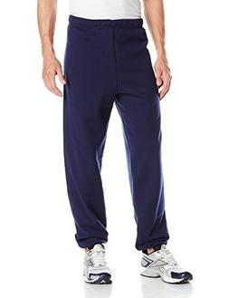 Jerzees Men's Elastic-Bottom Sweatpant, Navy, Large