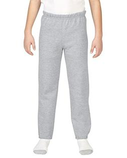 Boys  Gildan Closed Bottom Fleece Pants L, Sport Grey