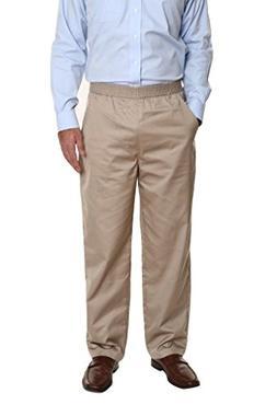 Pembrook Men's Full Elastic Waist Twill Casual Pant - 3XL -