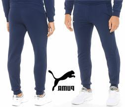 PUMA Essential Men's Sweatpants Navy Tracksuirt Trousers CLE