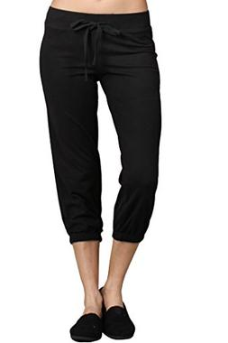 Ever77 Women's Athleisure Cropped Jogger Sweat Pants/S,M,L