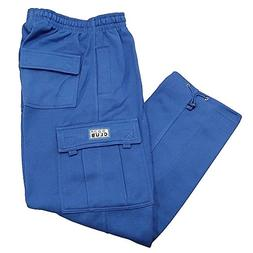 Pro Club Men's Heavyweight Fleece Cargo Pants, 4X-Large, Roy