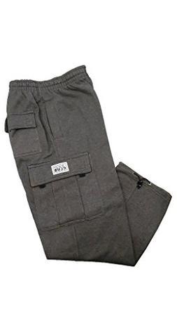 Pro Club Men's Heavyweight Fleece Cargo Pants, 3X-Large, Cha