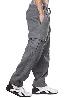 Pro 5 Fleece Cargo Sweatpants 60/40 Light Heavy Soft Warm Ac
