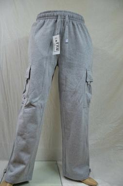 Pro Club Fleece Cargo Sweatpants Heather Gray Heavy Weight J