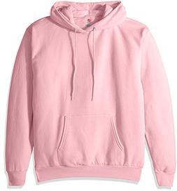 Hanes Men's Fleece Full Cut Hood Pullover Hoodie, PALE PINK,