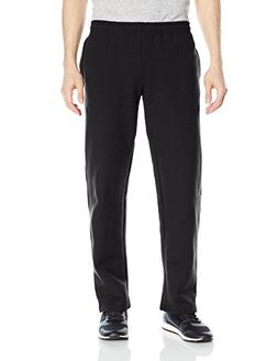 Gildan Men's Fleece Open Bottom Pocketed Pant, Black, Medium