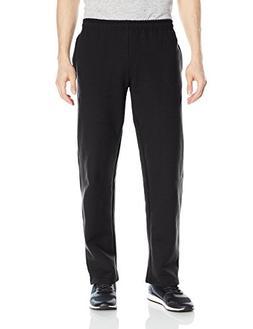 Gildan Men's Fleece Open Bottom Pocketed Pant, Black, Large