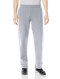 Gildan Men's Fleece Open Bottom Pocketed Pant, Sport Grey, M
