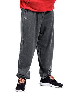 Champion Big Tall Men`s Fleece Pant, CH106, 2XLT, Granite He
