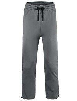 Baleaf Boy's Fleece Pants Youth Zip Pockets Warm Up Sweatpan