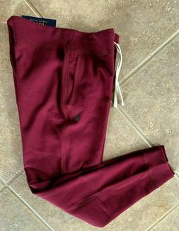 Polo Ralph Lauren Fleece Sweat Pants Joggers Mens XL Maroon