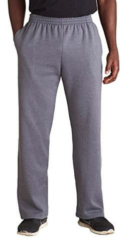 FOL SF74 Adult Sofspun Open-Bottom Sweatpants with Pockets -