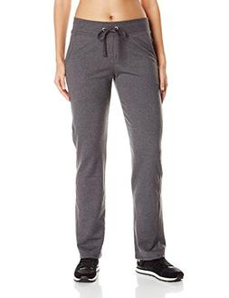 Hanes Women's French Terry Pocket Pant Charcoal Heather M