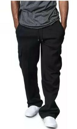 G-Style USA Men's Jogger Heavy Weight Fleece Cargo Pocket Sw