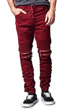 G-Style USA Scrunch Stacked Biker Twill Jogger Pants JG882 ;