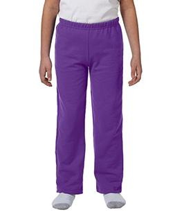 Gildan G184B Youth Heavy Blend Open-Bottom Sweatpant - Purpl