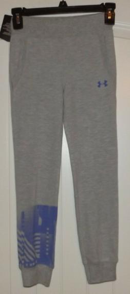 Girls Under Armour sweatpants Pant SIZE 6X Grey Heather NWT