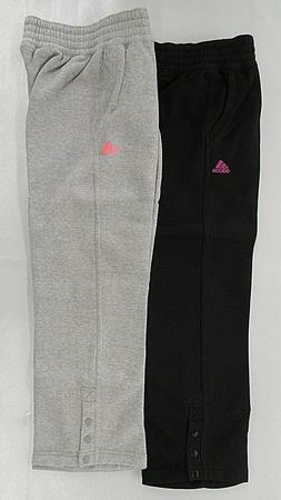 Girls Youth Adidas Black or Gray Cotton Fleece Lounge Sweatp