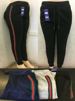 Gucci Color Style Sweatpants Joggers pants Black red green s
