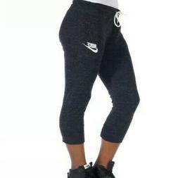 Nike Gym Vintage Women's Capri Sweatpants Black/Sail 813875-