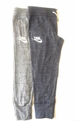 Nike Gym Vintage Womens Capris Sweatpants Grey and Blue 8138