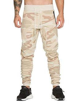 AKARMY Men's Gym Workout Jogger Track Pants Slim Fit Running