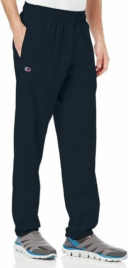 Hanes P7310 Mens Closed Bottom Jersey Pants, Navy Blue - Med