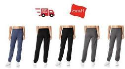 Hanes Women's Mid Rise Cinch Bottom Fleece Sports Pants Swea