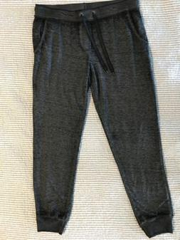 heathered black sweatpants size l