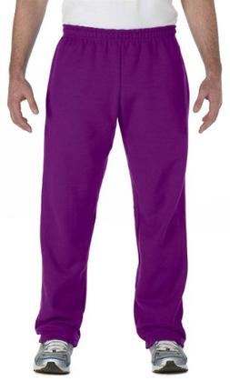 Gildan Men's Missy Fit Open Bottom Fleece Sweatpant, Purple,