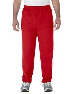 Gildan Heavy Blend 8 oz, 50/50 Sweatpants, Medium, RED