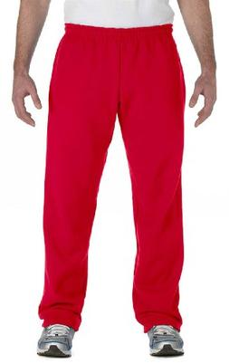 Gildan Men's Heavy Blend Open-Bottom Sweatpants, Large, Red