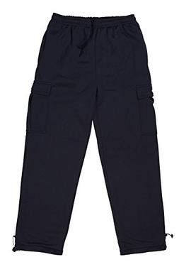 North 15 Men's Heavy Fleece Sweat Pants with Cargo Pockets-