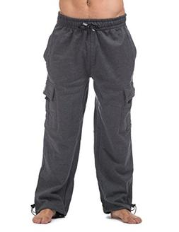 Pro Club Men's Heavyweight Fleece Cargo Pants, 2X-Large, Cha