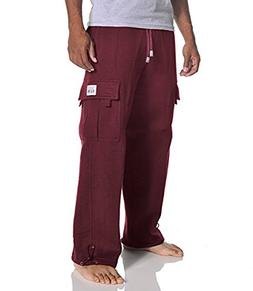 Pro Club Men's Heavyweight Fleece Cargo Pants, Medium, Maroo