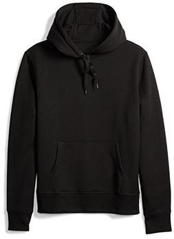 Amazon Essentials Men's Hooded Fleece Sweatshirt, Black, Lar