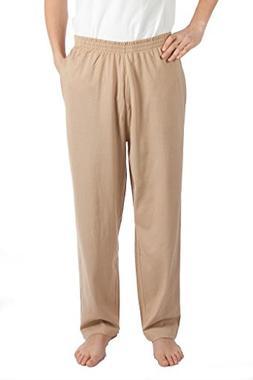 Pembrook Mens Jersey Knit Pants-S-Tan