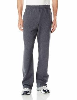 Jerzees Mens  Open Bottom Sweatpants, Black Heather, 3X-Larg