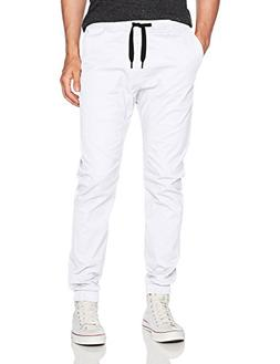 WT02 Men's Jogger Pants in Basic Solid Colors and Stretch Tw