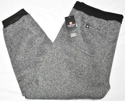 Southpole Jogger Pants Men Fleece Sweatpants Marled Black Bi
