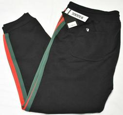 Southpole Jogger Pants Men's Fleece Side Taped Sweatpants Bl